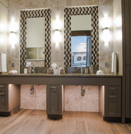 Custom bathroom woodwork Kelowna